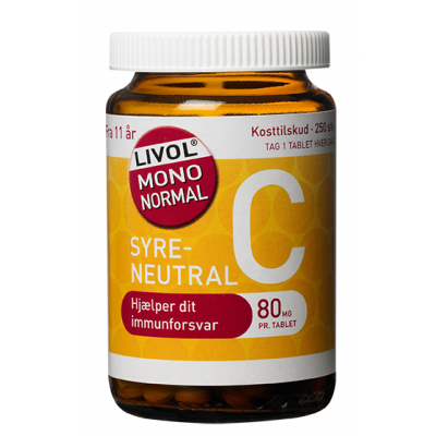 Livol Mono Normal C-vitamin 80 mg (250 tabletter)