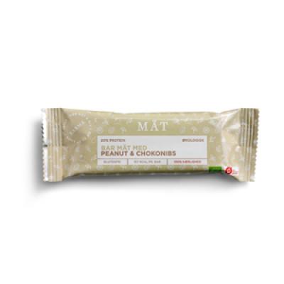 Mät Bar m. Peanuts og Kakaonibs - Økologisk (40g)