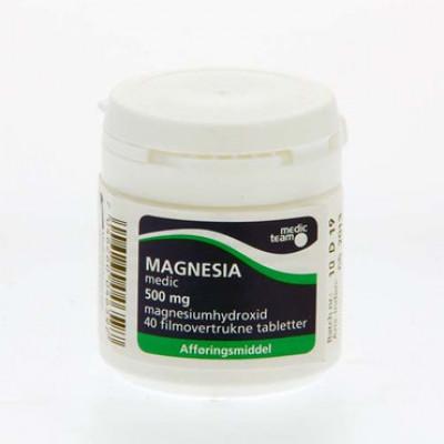 Magnesia 500mg (40 stk.)