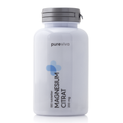 Pureviva Magnesium Citrat 400 mg 180 tabletter