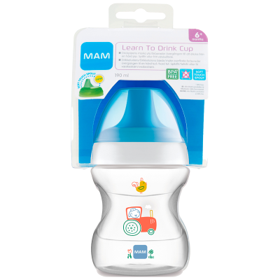 MAM Learn To Drink Cup Blue (190 ml)