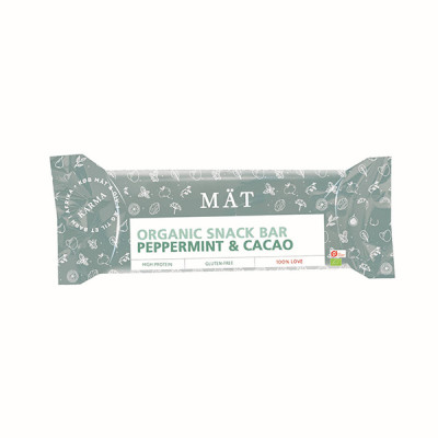 Mät Bar med Pebermynte og Kakao - Økologisk (40g)