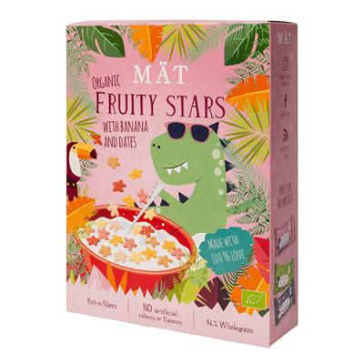 MÄT Organic Cereal Fruity Stars m. Banan, Vanilje & Dadler