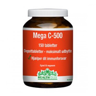 Health Care Mega C 500 mg (150 tabletter)