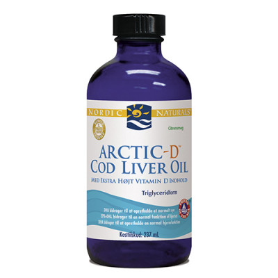 Nordic Naturals Torskelevertran D m.citrus Cod liver oil (237 ml)
