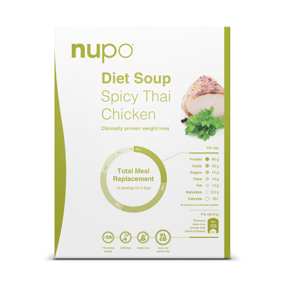 Nupo Spicy Thai Chicken Classic Suppe til 12 portioner (384 g)