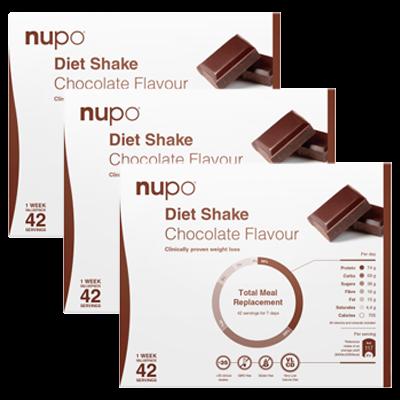3 x Nupo Diet Shake Chocolate (42x32 g)
