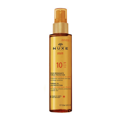 Nuxe Sun Tanning Oil For Face & Body SPF 10 (150 ml)