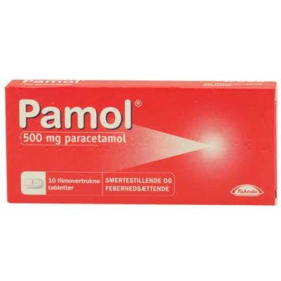 Pamol 500 mg Paracetamol (10 tabletter)