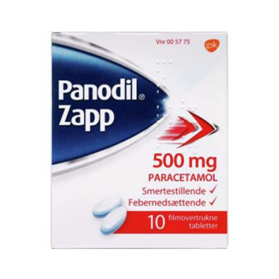 Panodil Zapp Tabletter 500 mg (10 stk)