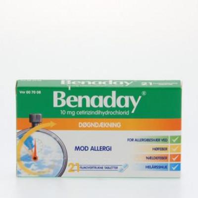 Benaday Tabletter 10 mg (21 stk)