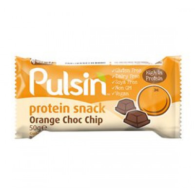 Pulsin Proteinbar Orange Choc Chip (50 g.)