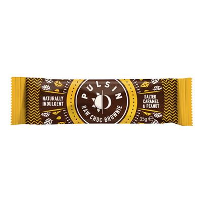 Pulsin Raw Choc Brownie Salted Caramel & Peanut (35 g)