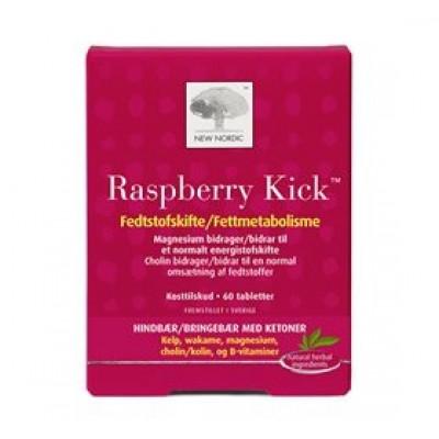 New Nordic Raspberry Kick (60 tabletter)