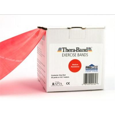 Thera-Band elastik bånd 45m (Rød - Medium)