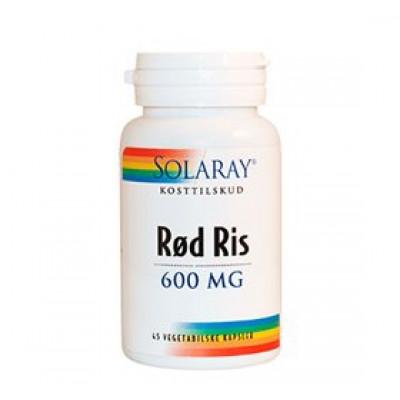 Solaray Rød Ris 600 mg (45 kapsler)
