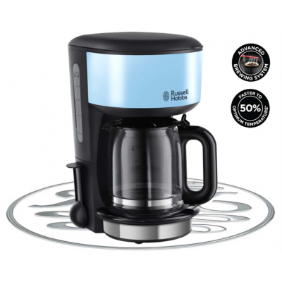 Russell Hobbs Colours Plus Heavenly Blue Coffee Maker