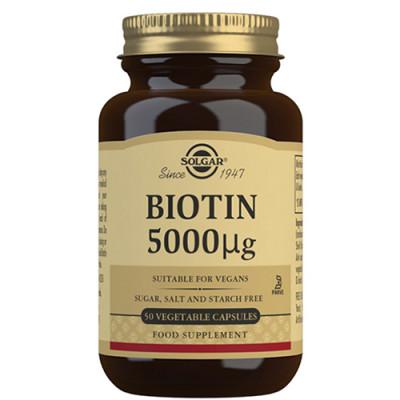 Solgar Biotin 5000ug (50 kap)