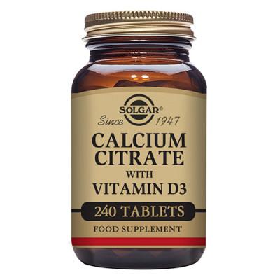Solgar Calcium Citrate+D3 (240 tab)