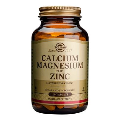 Solgar Calcium, Magnesium plus Zink - 100 tabs.