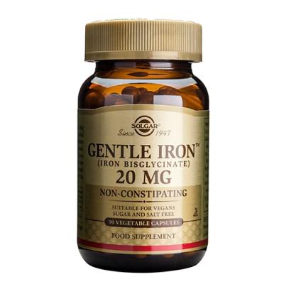 Solgar Jern skånsom Vegicaps 20 mg - 90 kaps.