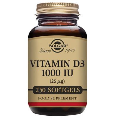 Solgar Vitamin D3 25ug 250 kap