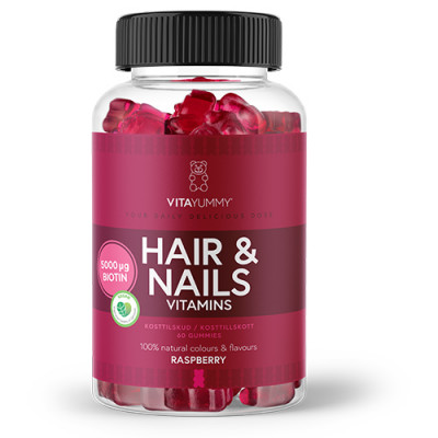 VitaYummy Hair & Nails Gummies (60 stk)