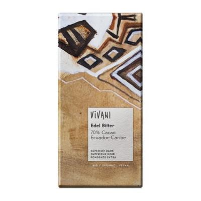 Vivani Ædelbitter Equador 70% Kakao Ø (100 gr)