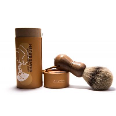 Alluvian Caravel Shave Brush American Walnut (1 stk)