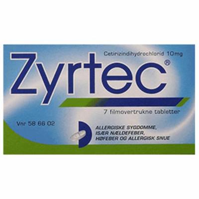 Zyrtec Tabletter 10 mg (7 stk)