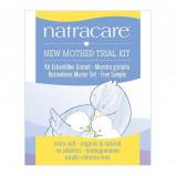 Natracare NewMother prøvepakke (1x baby vådserviet, 1x efterfødselsbind 2 x ammeindlæg)