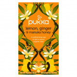 Pukka Lemon, Ginger & Manuka Honey Te Ø (20 breve)