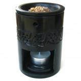Duftlampe (sort fedtsten) 8 x 11cm høj (1 stk)