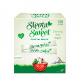 SteviaSweet Crystal Sticks Hermesetas (100 x 2 g)