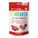 Yum Earth Slikkepinde Granatæble, Fersken, Jordbær & Melon Ø (85 g)