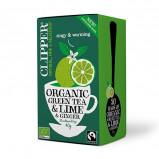Clipper Grøn Te m. Lime & Ingefær Ø (1 pk)