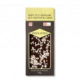 Økoladen Chokolade mørk ingefær/lemon Ø 72% (75 g)