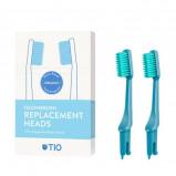 TIO Udskiftelige Tandbørstehoveder Blå (Soft 2 stk)
