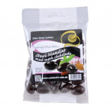Mandler m. mørk stevia chokolade (90 g)