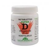 Natur Drogeriet Super D D3-vitamin 85 mcg (180 tabletter)