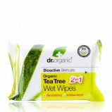 Dr. Organic Tea Tree Wet Wipe (20 stk)
