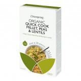 Clearspring Quick Cook Hirse, grønne ærter, røde linser Ø (250 g)