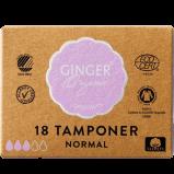 Ginger Organic Tampon u. indføringshylster Normal Ø (18 stk)