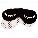 ImseVimse Sleep Mask Black Dots (1 stk)