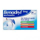 Benadryl Kapsler 8 mg (24 stk)