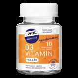 Livol D-vitamin 10µg Tyggetabletter (150 tab)