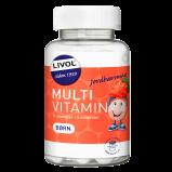 Livol Multi Total Børn - Jordbær (150 tyggetabletter)