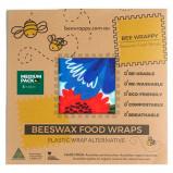 Bee Wrappy Beeswax Food Wraps (2 x Medium)