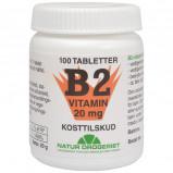 Natur Drogeriet B2 Vitamin 20 Mg (100 tab)