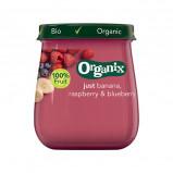 Organix Babymos banan hindbær blåbær Ø fra 6 mdr. (120 g)